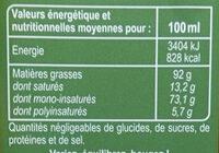 Spécialité Huile d'olive aromatisée au basilic - Voedigswaarden