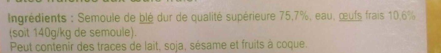 Feuilles de Lasagne - Ingrediënten