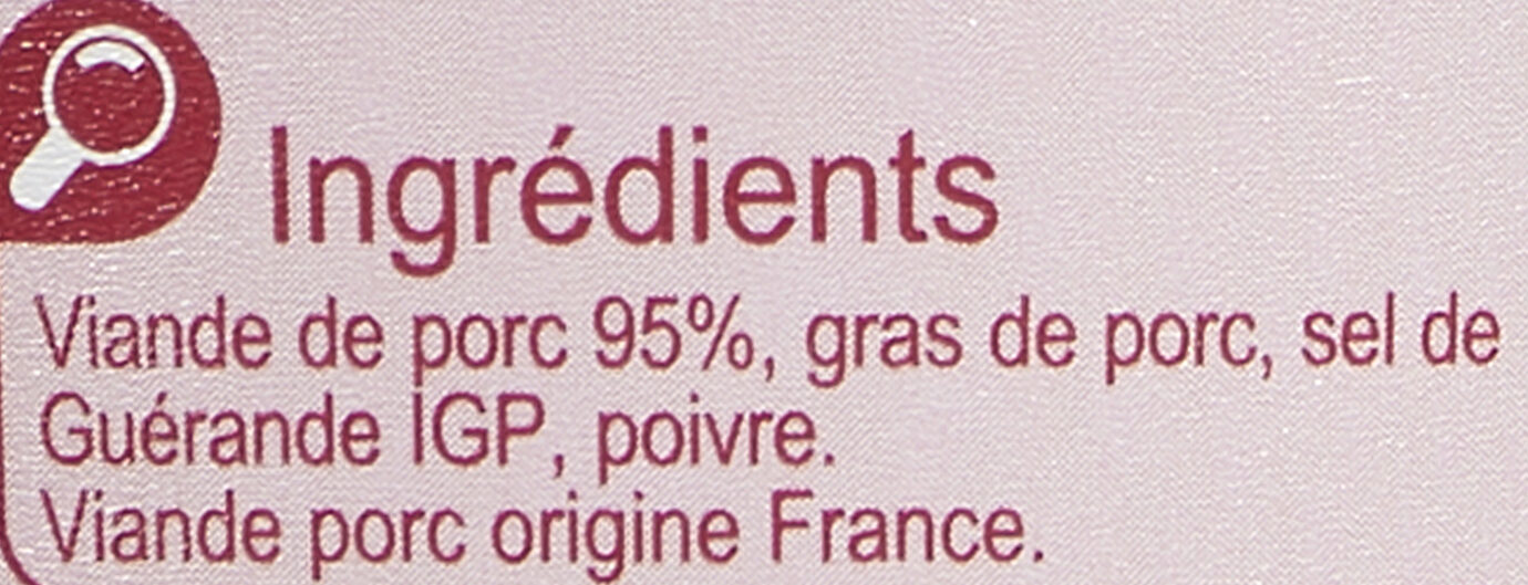 Rillettes du Mans -25% de sel - Ingrediënten - fr