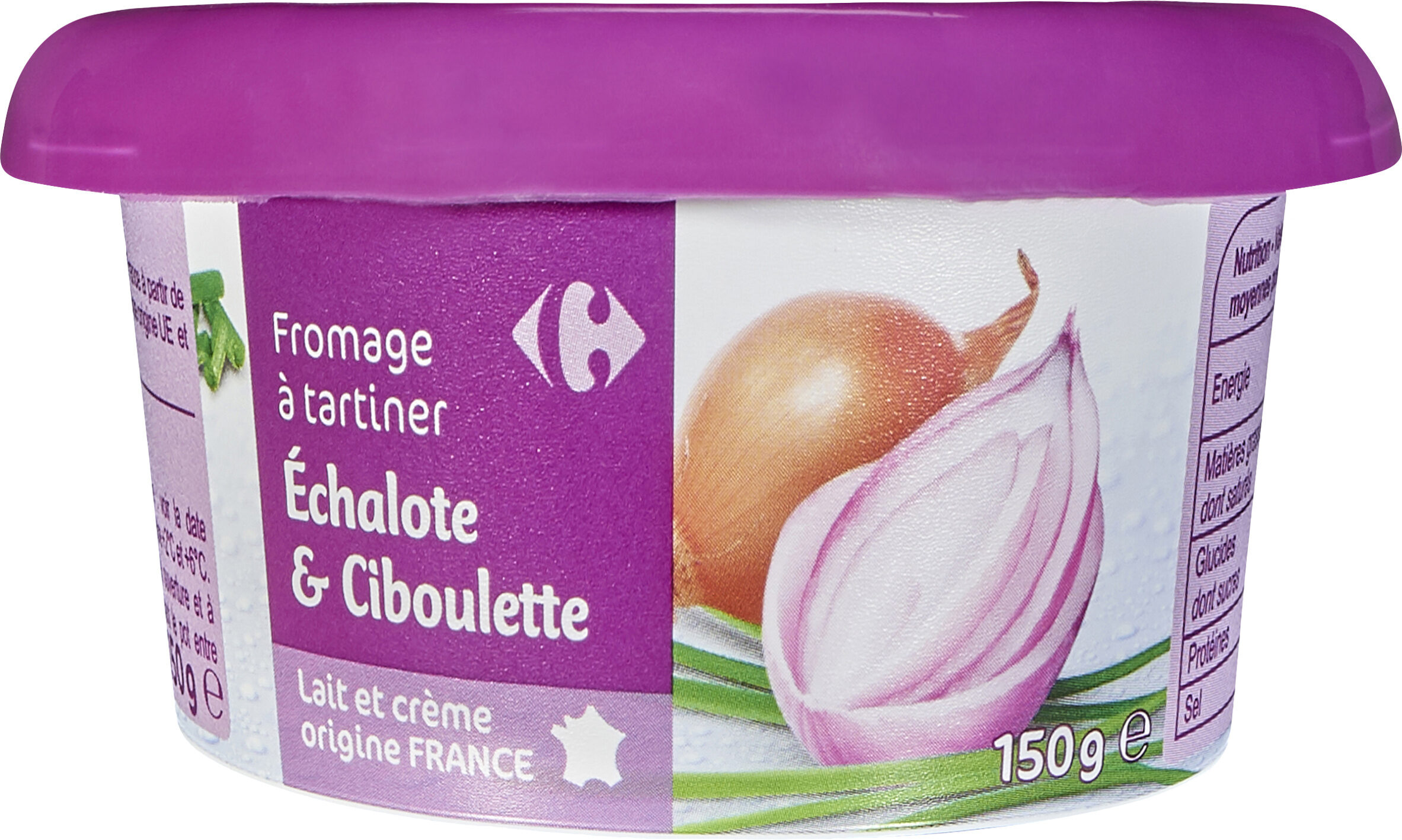 Fromage à tartiner Echalote & ciboulette - Product - fr