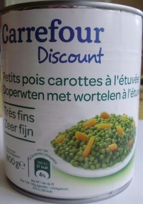 Petits pois carottes à l'étuvée (Très fins) - Produit