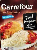 Poulet basquaise et son riz basmati (Les Brasseries) - Produit - fr