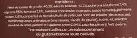 Poulet basquaise et son riz basmati (Les Brasseries) - Ingrédients - fr