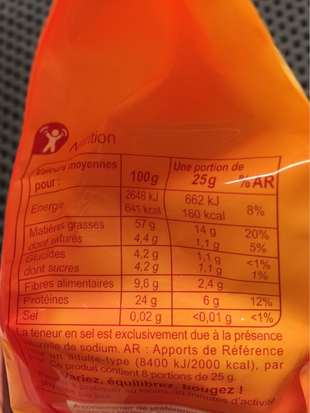 Amandes Effilées - Nutrition facts