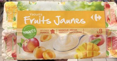 Yaourt fruits mixés, fruits jaunes - Voedigswaarden