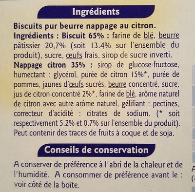 Tartelettes Citron - Ingrédients - fr