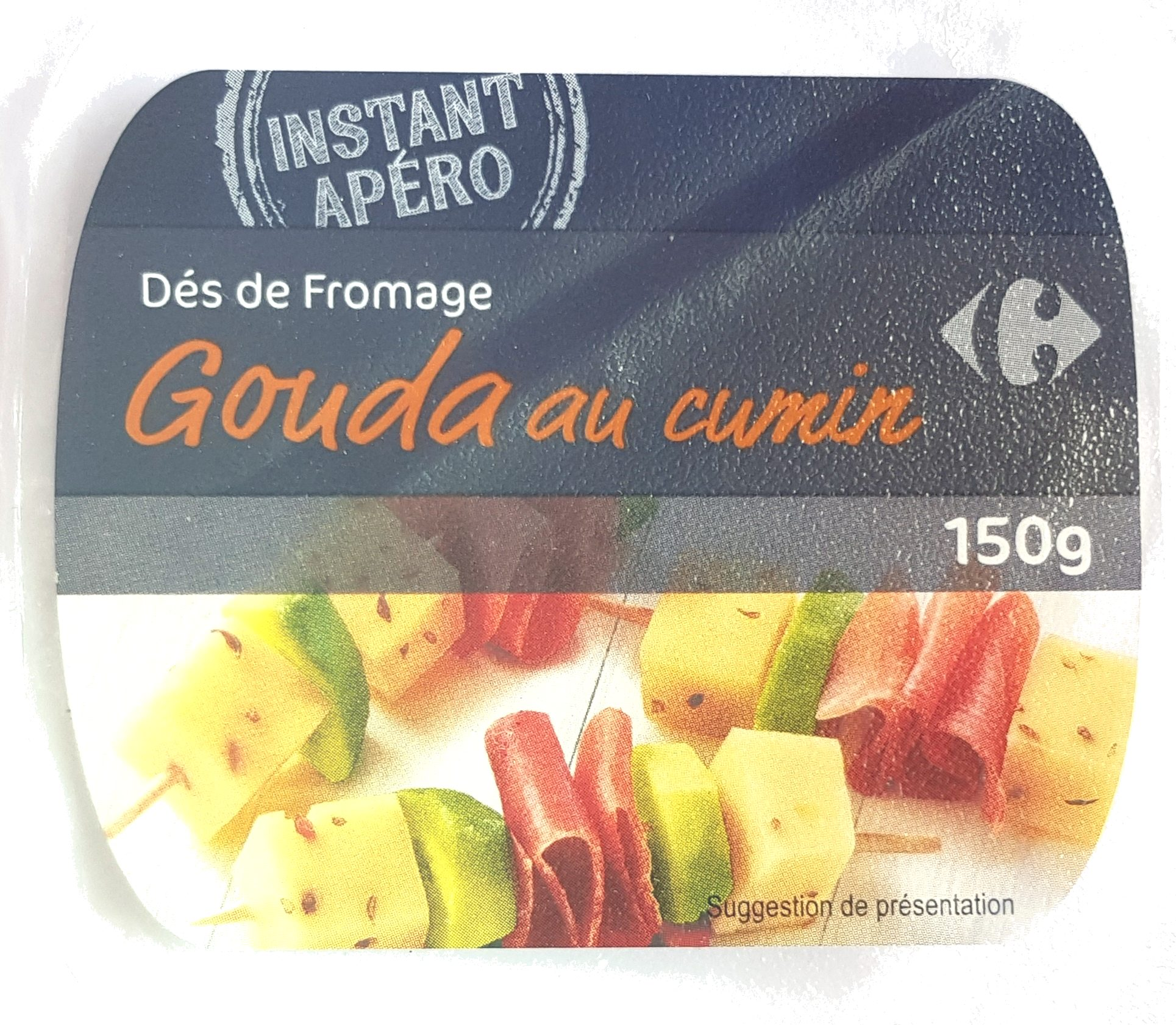 Dés de gouda au cumin (30 % M.G.) - Product - fr