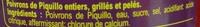 Pimientos del PiquilloEnteros - Ingredients