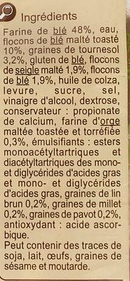 Le Gourmand - Ingredienti - fr