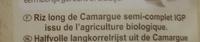 Riz de Camargue semi-complet - Ingrediënten