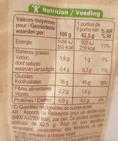 Riz de camargue semi-complet bio - Voedingswaarden - fr