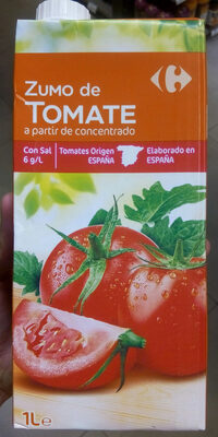 Zumo de tomate a partir de concentrado