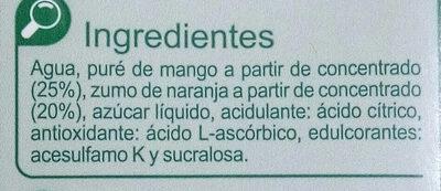 NéctarMango Naranja - Ingrediënten
