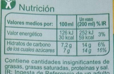 NéctarMango Naranja - Voedingswaarden