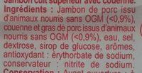 Jambon Supérieur - Ingredients