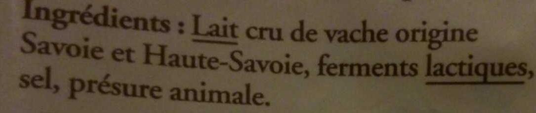 Emmental de Savoie râpé au lait cru - Ingredients