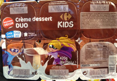 Crème dessert Duo choco lait - Product