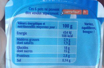 Crème dessert Duo choco lait - Voedingswaarden