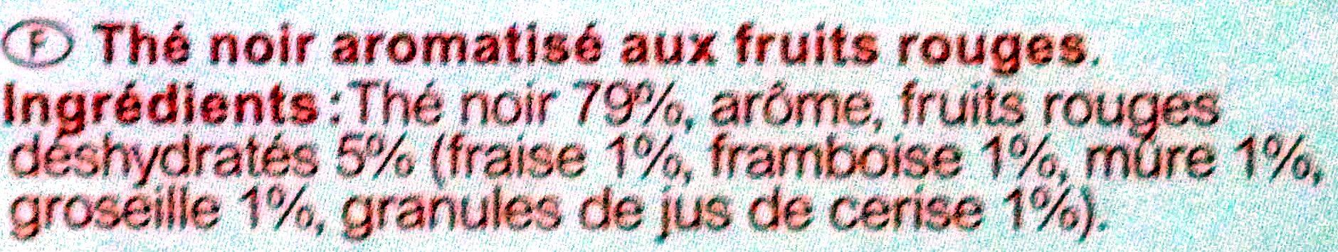 Thé Noir Fruits Rouges - Ingrédients - fr