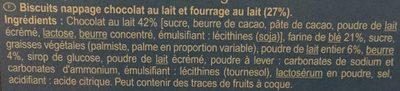 Petits Beurre Chocolat au Lait - Ingredients - fr