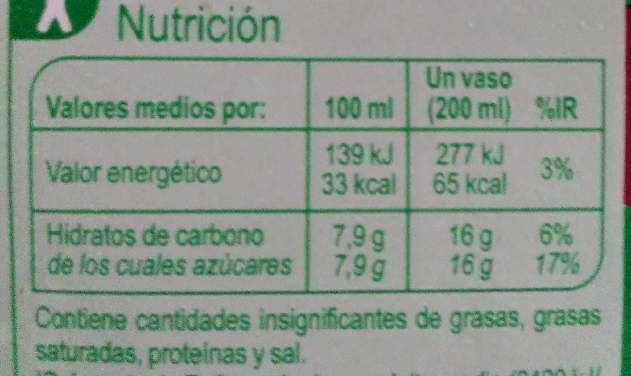 Néctar Frutos Rojos - Informació nutricional - es