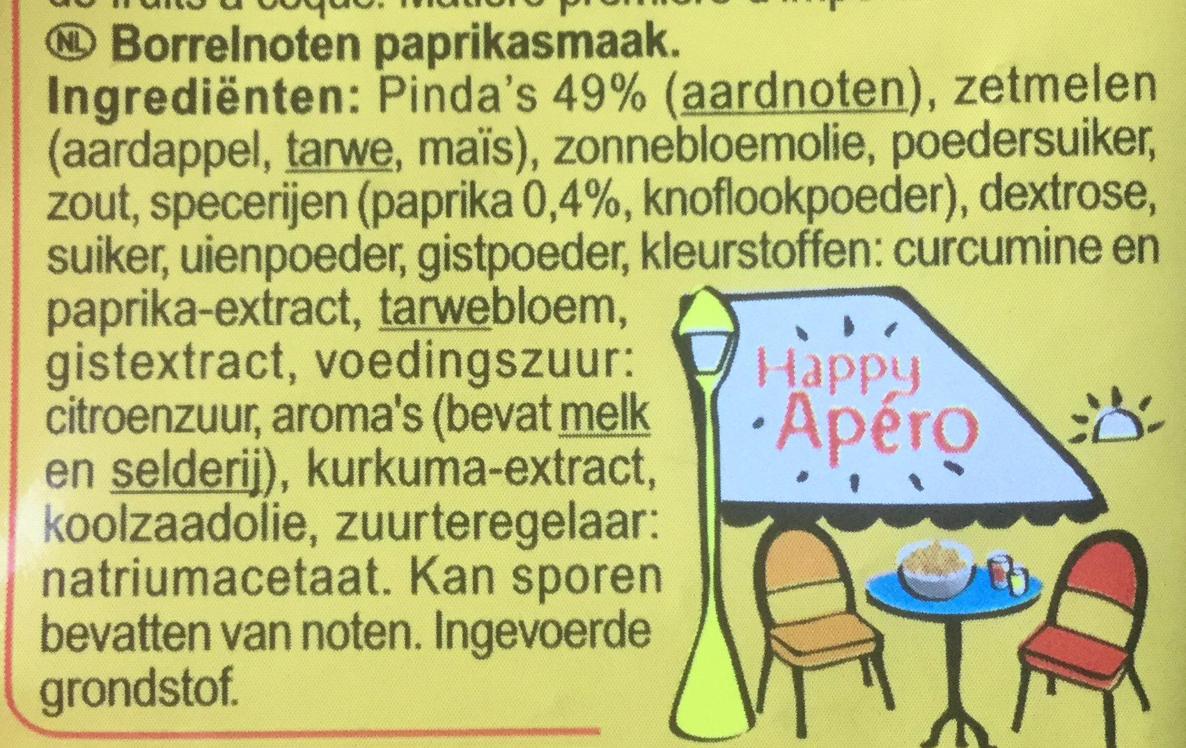 Cacahuètes enrobées - Ingrediënten - nl