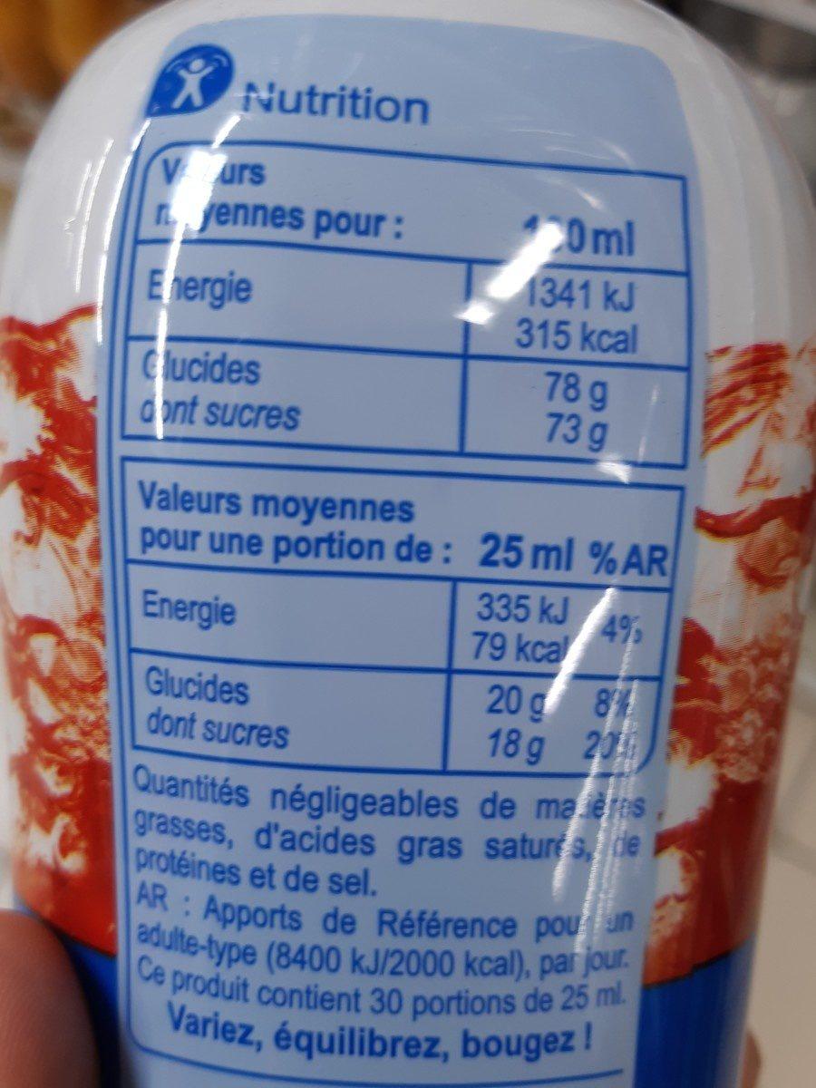 Sirop cerise - Ingredienti - fr