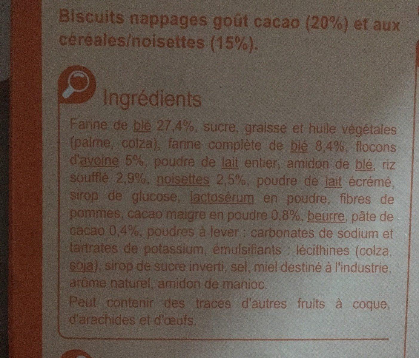 Tartines P'tit Dej Goût Cacao - Ingredienti - fr