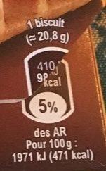 Tartines P'tit Dej Goût Cacao - Valori nutrizionali - fr
