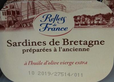 Sardines de Bretagne préparées à l'ancienne à l'huile d'olive vierge extra - Product - fr