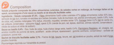 Salade Speck - Ingrédients - fr