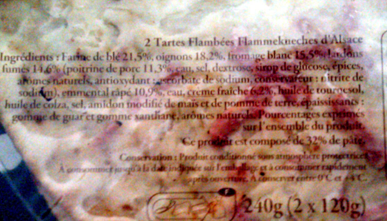 2 Flammekueches - Ingredientes - fr