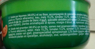 Salade au thon Italienne - Ingredients - en