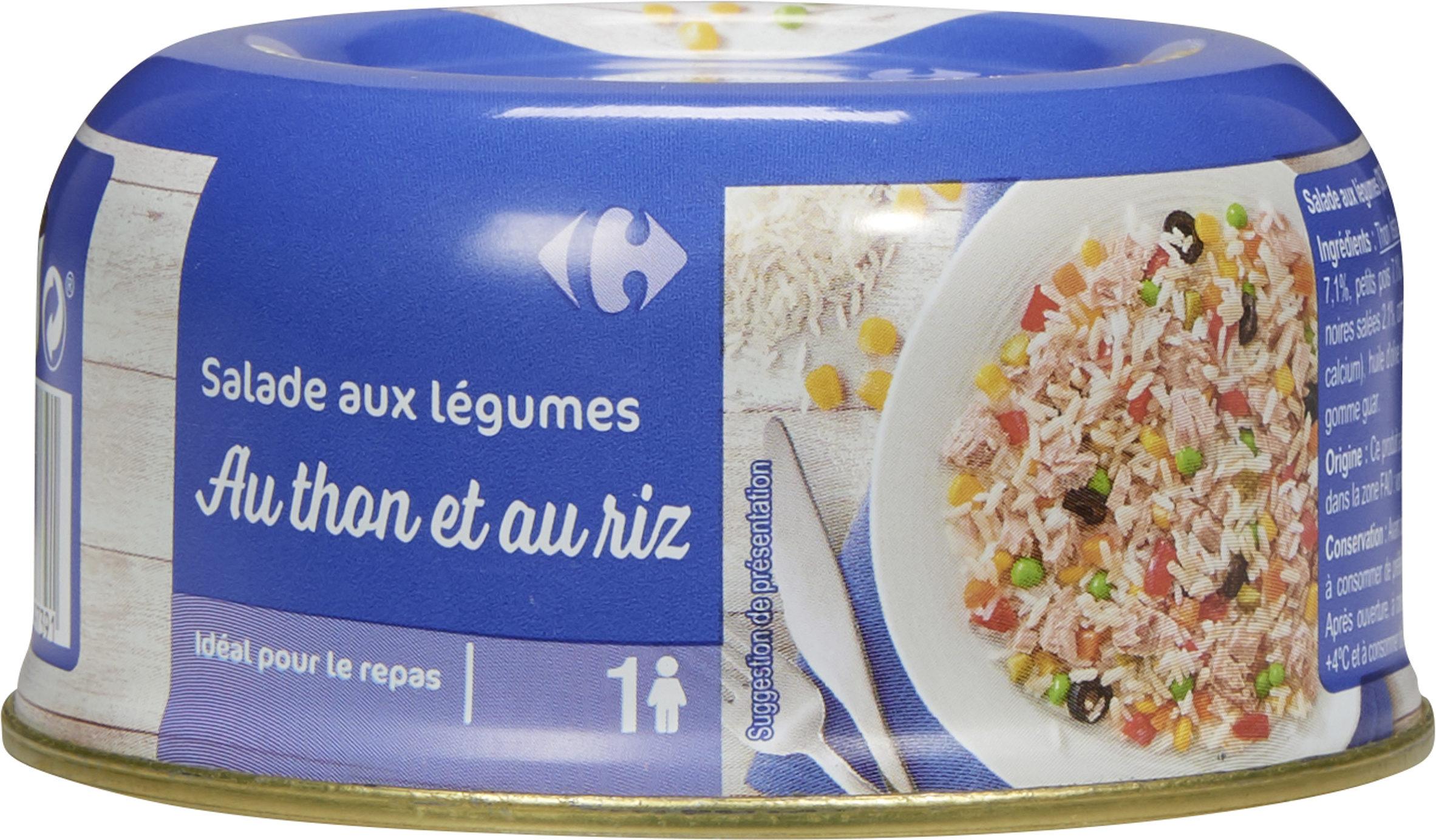 Salade aux légumes au Thon et au riz - Produit - fr