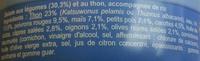 Salade aux légumes au Thon et au riz - Ingrédients - fr
