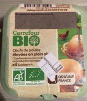 Oeufs de poules élevées en plein air Bio (x 4) - Carrefour Bio - Product