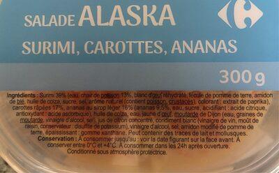 Salade Alaska - Ingrédients - fr