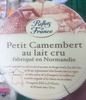 Petit camembert au lait cru - Product