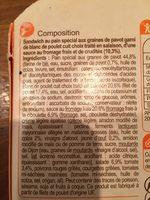 Bagel Poulet Crudités - Ingredients