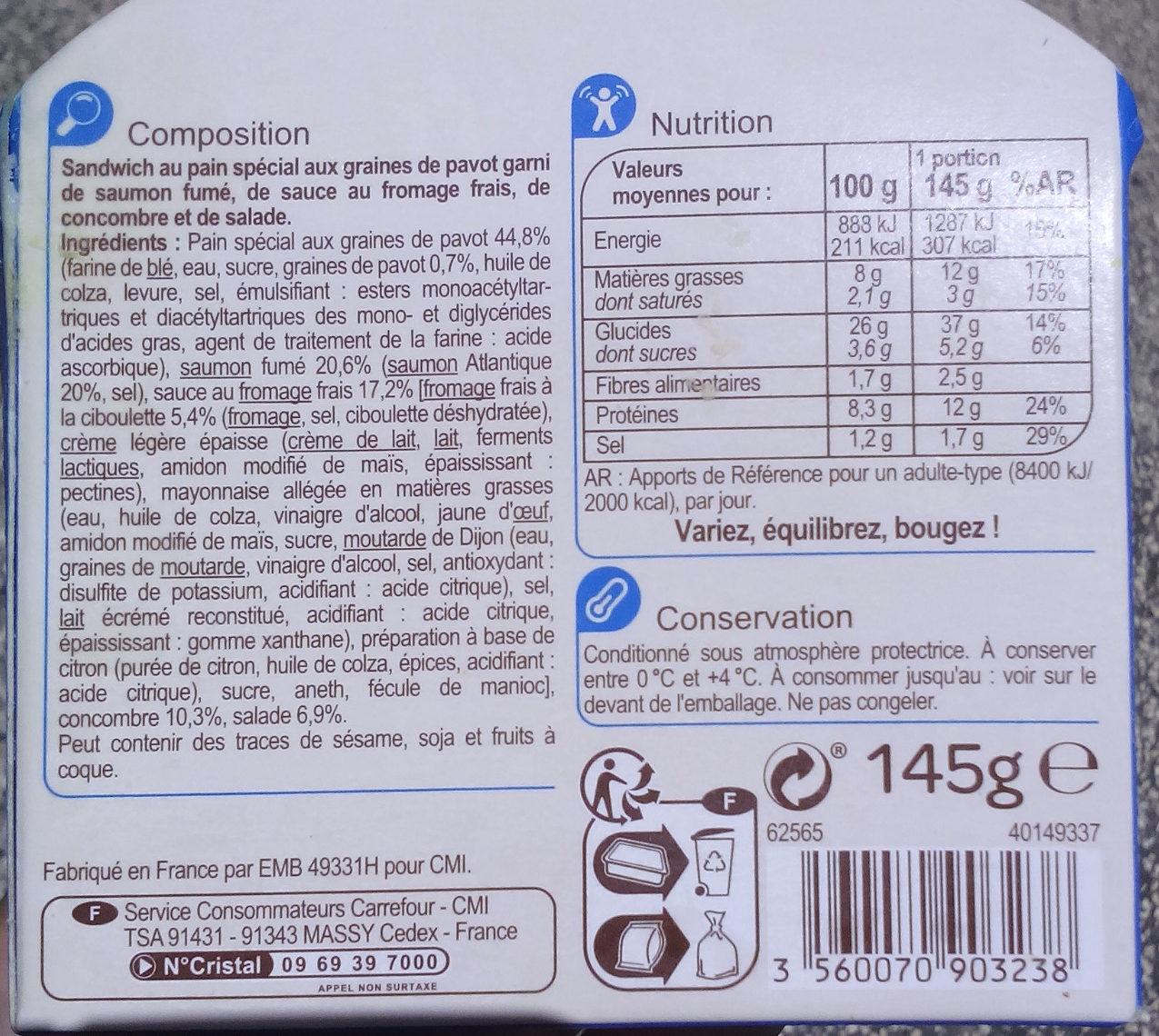 Bagel Saumon Fumé - Produit