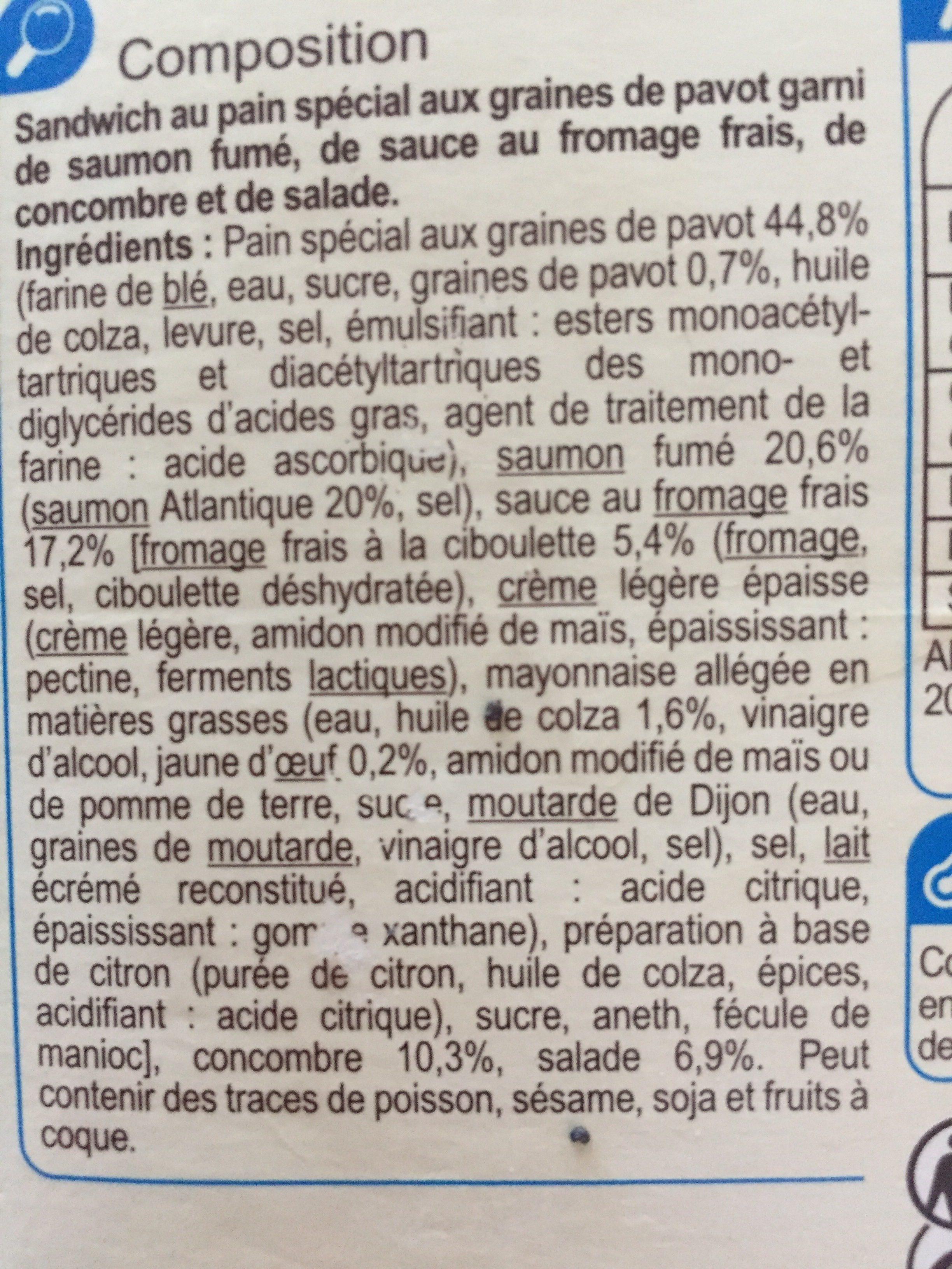 Bagel Saumon Fumé - Ingrédients
