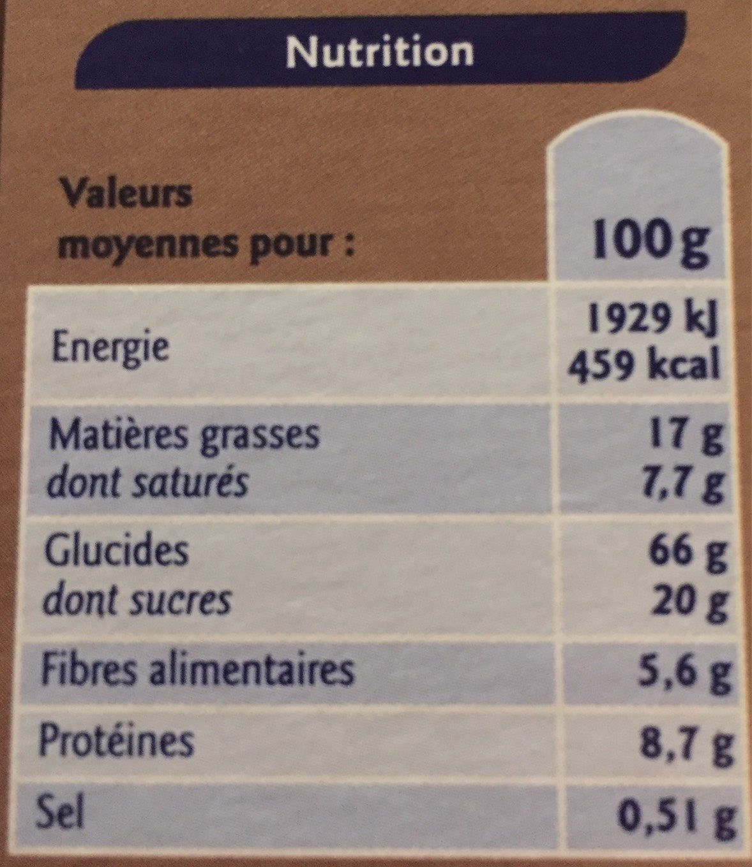 Muesli croustillant au chocolat - Nutrition facts