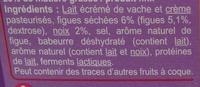 Fromage à tartiner Figue & Noix, aromatisé - Ingredients - fr