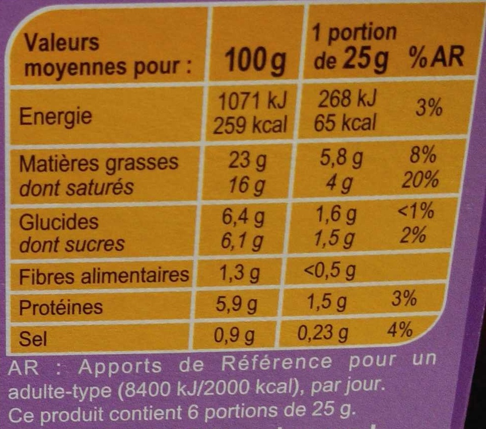 Fromage à tartiner Figue & Noix, aromatisé - Nutrition facts - fr