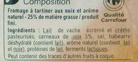Fromage à tartiner Noix, aromatisé - Ingredients - fr