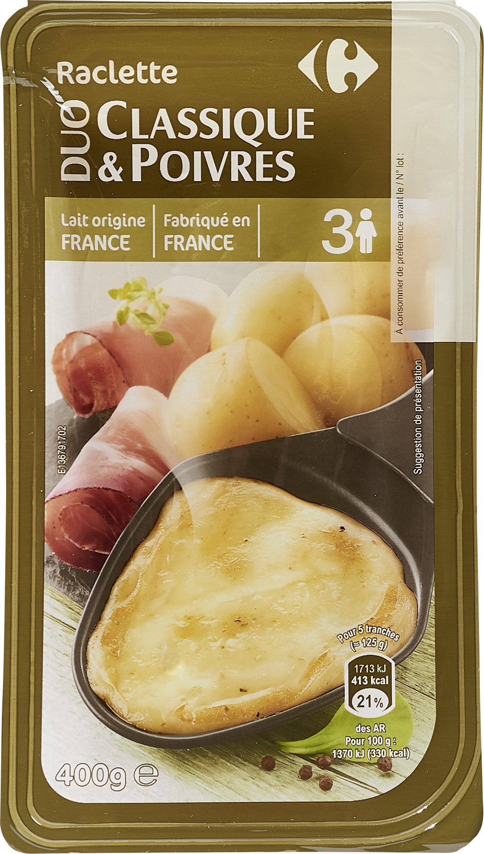 Duo Raclette Classique & poivres - Produit - fr