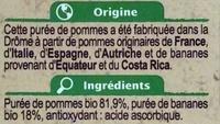 Purée de pommes bananes - Ingrédients - fr