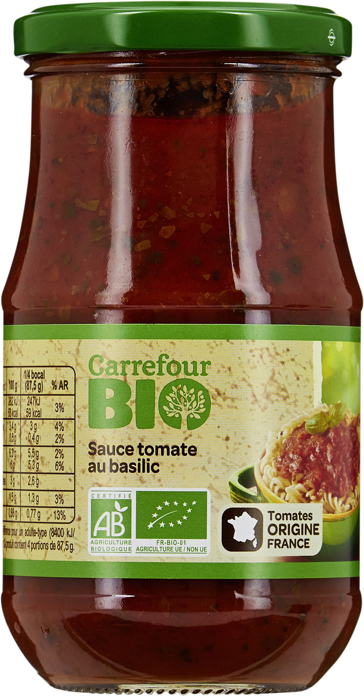 Sauce tomate basilic bio - Produit - fr