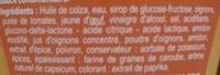 Sauce algérienne - Ingrédients - fr