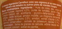 Sauce Algérienne - Ingrédients